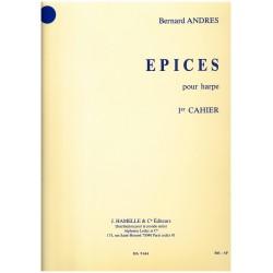 Bernard Andrès, Epices,1er cahier