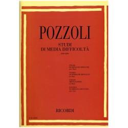 Pozzoli, Etudes de moyenne difficulté