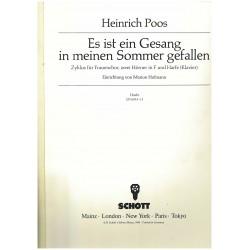 Heinrich Poos, Es ist ein Gesang in meinen Sommer gefallen