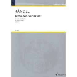 Händel, Tema con Variazioni