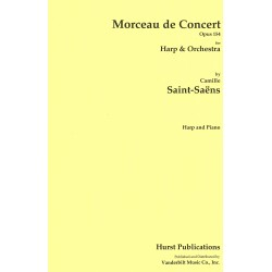 Camille Saint-Saëns / Morceau de Concert - Opus 154 pour Harpe et Orchestre