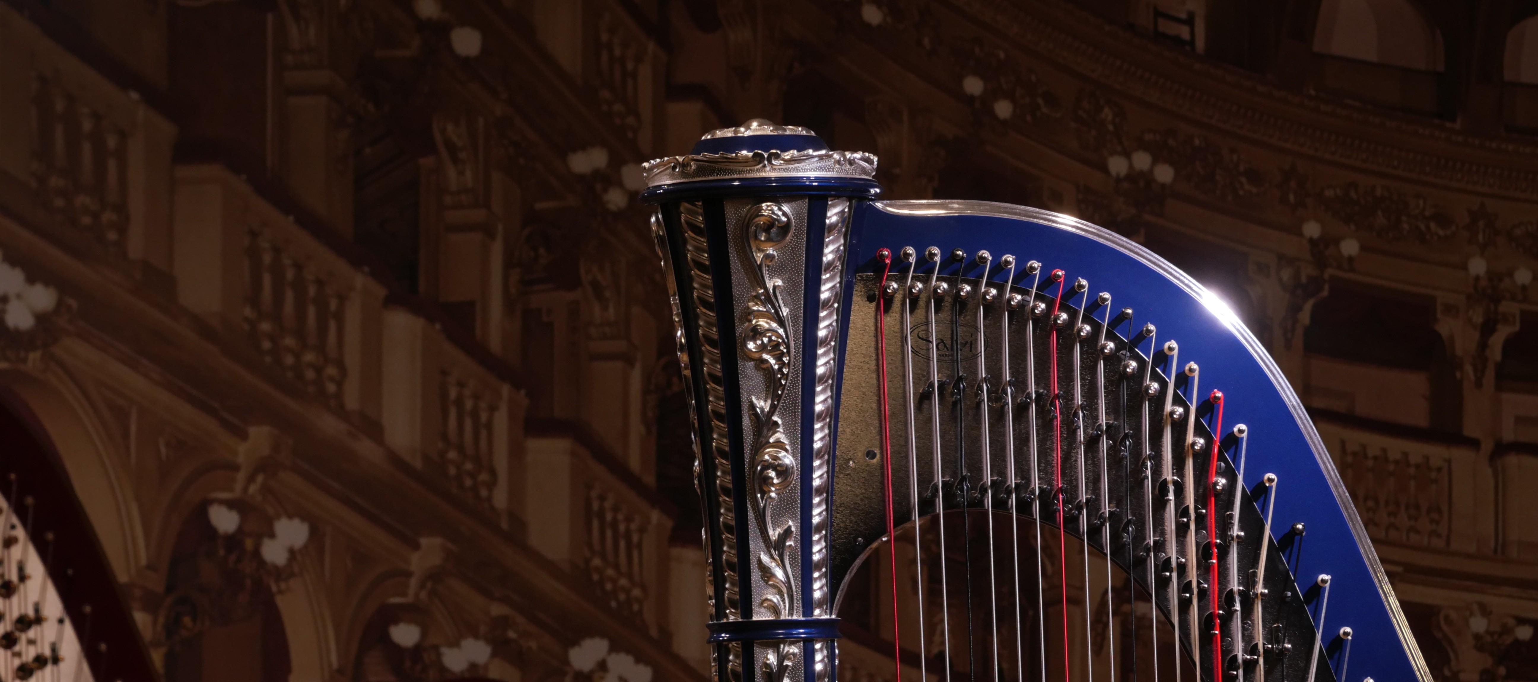 Harpes d'étude et celtiques