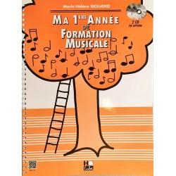 Marie-Hélène Siciliano, Ma 1ère année de formation musicale