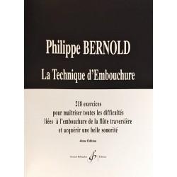 Philippe Bernold, La technique d'embouchure