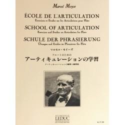 Marcel Moyse, Ecole de l'articulation