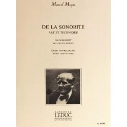 Marcel Moyse, De la sonorité Art et technique