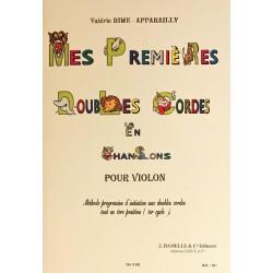 Valérie Bime-Apparailly, Mes premières doubles cordes en chansons pour violon