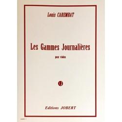 Louis Carembart, Les gammes journalières pour violon