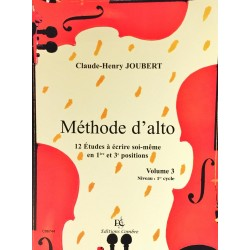 Claude-Henry Joubert, Méthode d'alto Volume 3