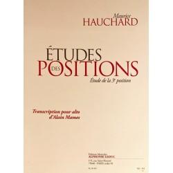 Maurice Hauchard, Etudes des positions - Etude de la 3ème position