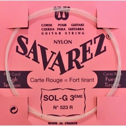 Corde Sol3 Savarez Carte Rouge