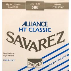 Jeu de cordes Savarez Alliance HT Classic Bleu