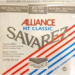 Jeu de cordes Savarez Alliance HT Classic rouge/bleu