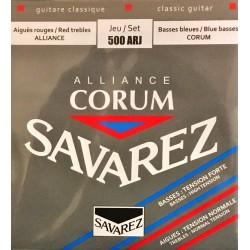 Jeu de cordes Savarez Alliance Corum Rouge/Bleu