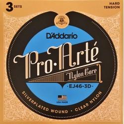 Pack de 3 Jeux de cordes D'Addario Pro Arté Bleu