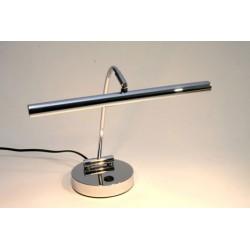 Lampe halogène pour piano droit, chrome